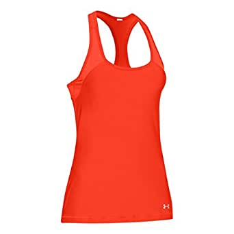 Under Armour Top Heatgear Naranja Oscuro M