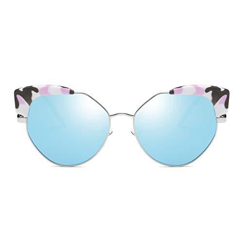 1c189a9fabef05 ... Lunettes Soleil black blue Frame Polarisées Mode De Gold Lby couleur  Tendance Silver Lens Femme Personnalité