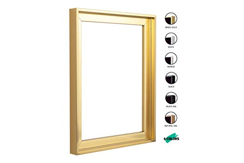 (Floater Frames for Canvas Paintings 12x16 | 6 Colors | Floater Frame for Stretched Canvas, Canvas Panels and Finished Artwork | 1-3/8