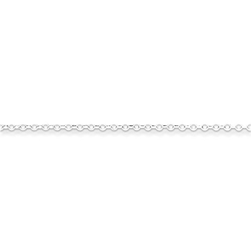 PriceRock Sterling Silver 1.75mm 8 Side Diamond Cut Cable Chain Necklace 20 Inches ()