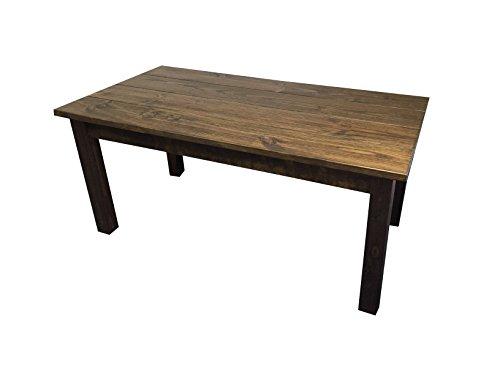 "Rustic Dark Walnut Farmhouse Dining Table (48"")"