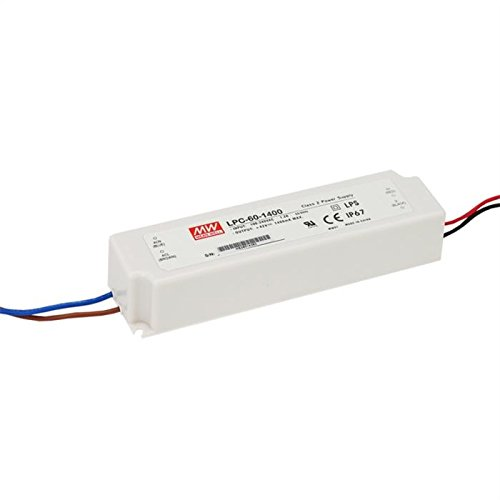 MeanWell LPC-60-1400 LED-Treiber Konstantstrom 58.8W 1.4A 9-42 V//DC no dimmbar /Überlastschut