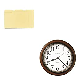 KITMIL625417UNV12113 - Value Kit - Howard Miller Talon Wall Clock (MIL625417) and Universal File Folders (UNV12113)