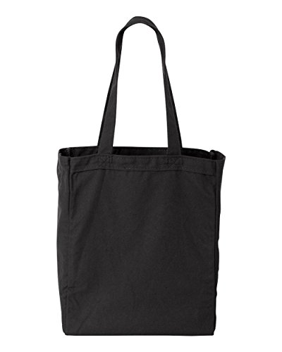 Liberty Bags Susan Cotton Canvas Tote (Black) (ALL) (Canvas Trendy Tote)