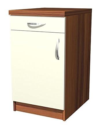 Küchenunterschrank  Küchen Unterschrank Sienna 50 cm Vanille Zwetschge Dekor: Amazon.de ...