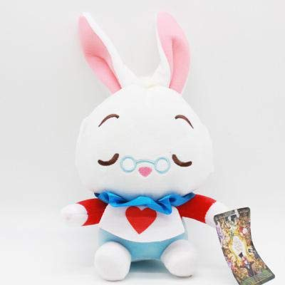 ForteGlo Movie Plush - New Alice in Wonderland Anime The Red Queen Cheshire Cat White Rabbit Alice Stuffed Plush Animals Soft Toy for Girl 1 PCs ()