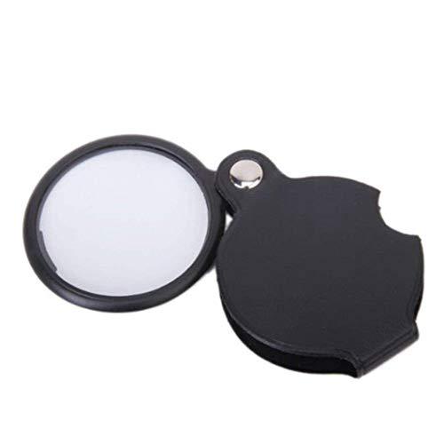TOOGOO 1pcs 3x-5x Handheld Folding Portable Old Man Reading Magnifier - Black