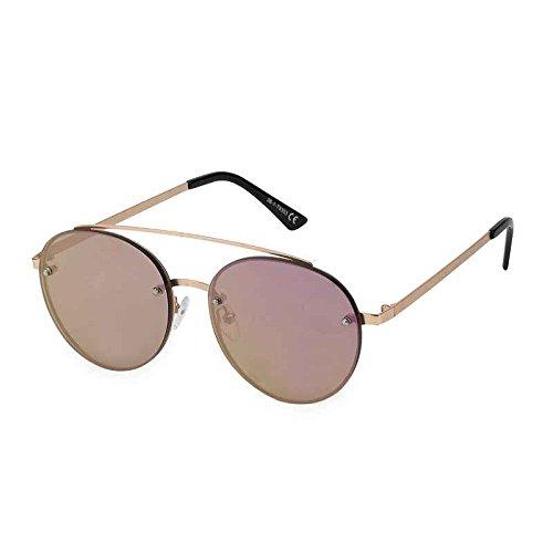 0f80991e7930c All Cheap Sunglasses - Kioto - Gafas de Sol Redondas lente de espejo montura  Dorado y lentes Rosa para mujeres  Amazon.es  Ropa y accesorios
