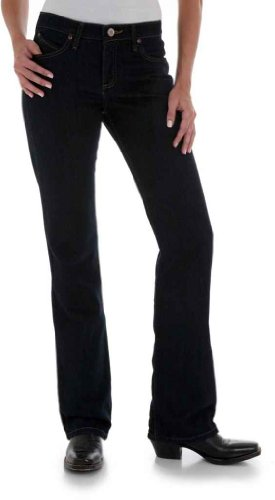 Wrangler Women's Cowgirl Cut Ultimate Riding Q-Baby Midrise Jean, Dark Dynasty (7/8X34) from Wrangler