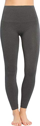 SPANX Women's Look at Me Now Seamless Leggings Heather Charcoal Medium 24
