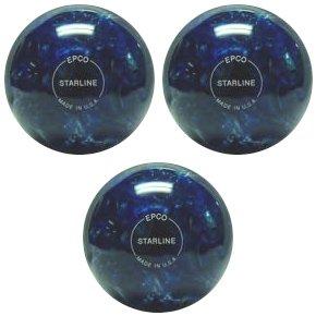 EPCO Duckpin Bowling ball- Starline – – ブルー&パール oz. – inch- 3 Balls B00GN2YY4W 4 7/8 inch- 3lbs. 8 oz., バッグと靴のエルシエ(ElleSie):70179941 --- sharoshka.org