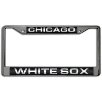 Chicago White Sox Laser Cut Chrome License Plate Frame - Chicago White Sox Laser