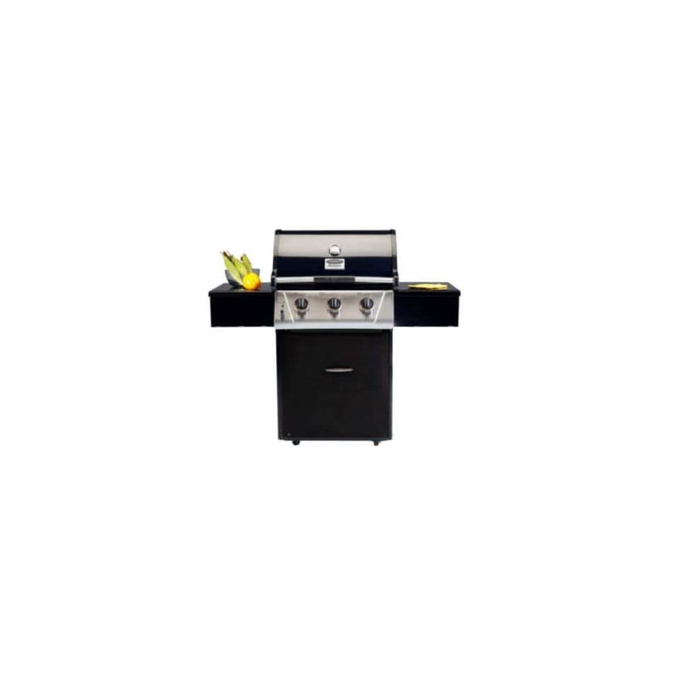 VCS332ESP 332 Signature Series Freestanding 3 Burner Liquid Propane BBQ Grill with 673 sq. in. Total Cooking Surface FlavorSeal System Commercial Grade Casters Black