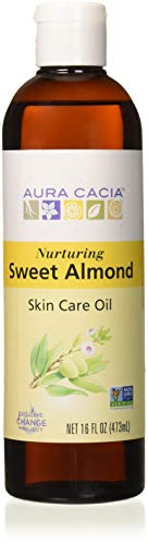Aura Cacia - Pure Sweet Almond Oil | Non-GMO Project Verified | 16 fl. oz.