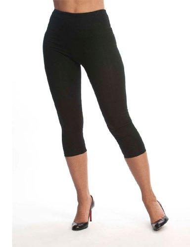 Lysse Women's Tummy Control Shaping Cotton Capri Leggings
