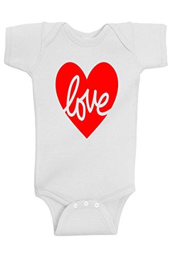 Reaxion Aiden's Corner - Baby Valentine's Day Onesies (6 Months, Love - Onesie No Face