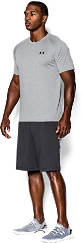 Under Armour Men's Tech Short Sleeve T-Shirt, True Gray Heather /Black, XXXXX-Large by Under Armour (Image #7)