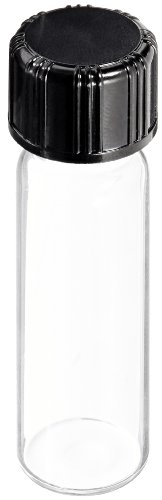 - Kimble 60812B-1 Borosilicate Glass Clear Screw Thread Sample Vial with Unattached PTFE-Faced White Rubber Lined Closures, 1 Drams Capacity, 13-425 GPI Thread Finish (Case of 200)