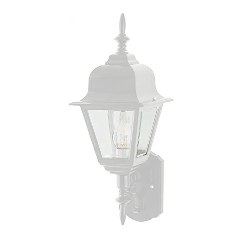 Transglobe Lighting 4412 WH Outdoor Wall Light with Beveled Glass Shade, White Finished Review