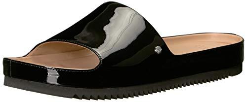 (UGG Women's Jane Patent Flat Sandal, Black, 6.5 M US)