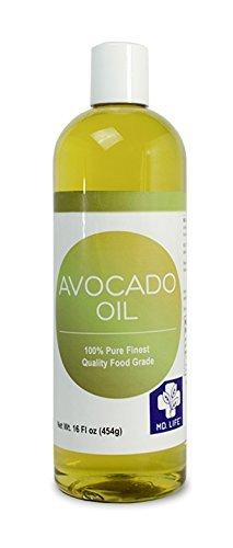 Pure Avocado (Save $$ MD LIFE Avocado Oil| 100% Pure Cold-Pressed Avocado Oil, Food Grade Avocado Oil for Cooking| Avocado Oil for Hair and Skin| 16 Oz Compare to NOW Foods Avocado Oil)