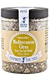 Grey Sea Salt with Mediterranean Citrus Blend by Esprit du Sel (7 ounce)