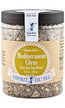 Grey Sea Salt with Mediterranean Citrus Blend by Esprit du Sel (7 ounce)