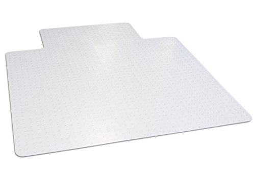 Dimex 45''x 53'' Clear Office Chair Mat With Lip For Low And Medium Pile Carpet, Made In The USA, BPA And Phthalate Free-C521001J by Dimex