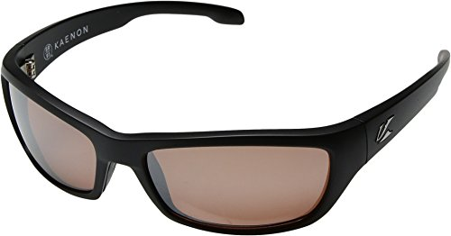 Kaenon Polarized Cowell Sunglasses - Matte Black Frame - Copper C12 Silver Mirror Lens