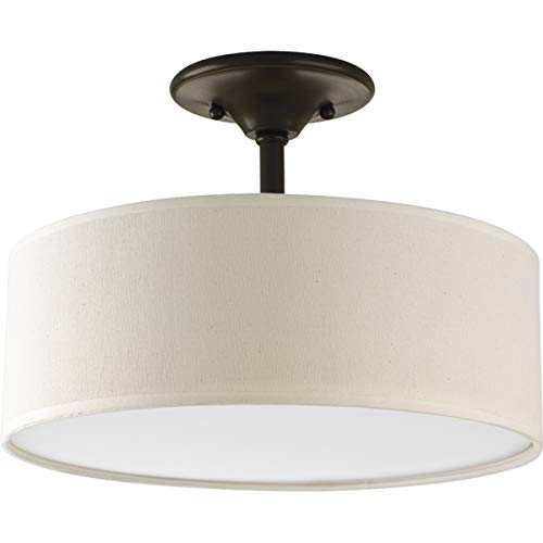 - Progress Lighting P3939-20 Inspire Collection 2-Light Semi-Flushmount, Antique Bronze