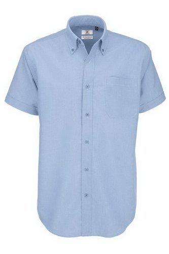Chemise à manches courtes B&C pour homme XXXX-Large Bleu - Oxford Blue