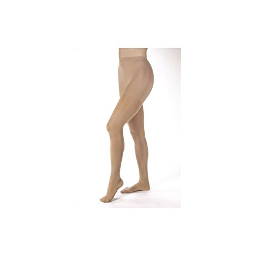 Women's Opaque 30-40 mmHg Extra Firm Support Pantyhose Size: Small, Color: Silky Beige