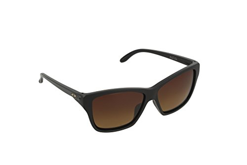 Oakley Women's Hold On OO9298-01 Polarized Cateye Sunglasses, Matte Black, 58 - Polarized Hold Out