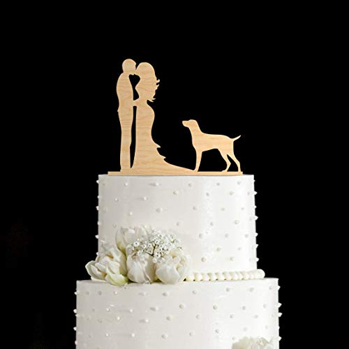 (Pointer hunting dog pointer dog german shorthaired pointer wedding cake topper with dog dog cake topper dog wedding cake topper)