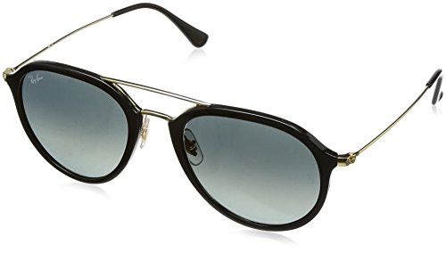 Ray-Ban Injected Unisex Square Sunglasses, Black, 53 - Ray Ban Aviator Square