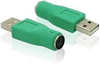 USB 2.0 Macho a Conector de Adaptador de ratón del Teclado del Ordenador PS / 2 convertidor Adaptador Hembra