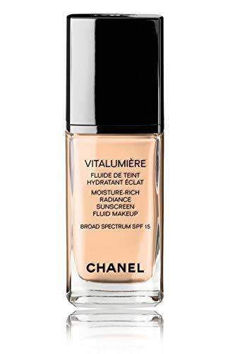 VITALUMIÈRE Moisture-Rich Radiance Sunscreen Fluid Makeup Broad Spectrum SPF 15 Color: 35 Soft Bisque ()