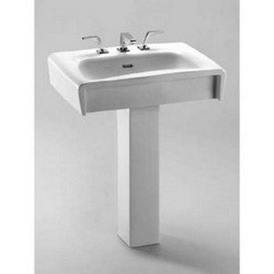 Ethos Single - Toto LT680G-01 Ethos Design C Pedestal Single Hole Basin with Sanagloss, Cotton
