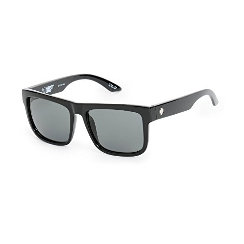 Spy Optic Discord Sunglasses Gloss Black w/Happy Grey Green Lens + Sticker (Spy Optic Discord)