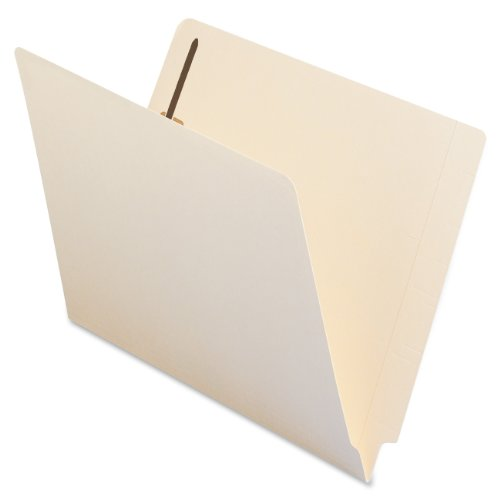 Smead End Tab Fastener File Folder, Shelf-Master® Reinforced Straight-Cut Tab, 2 Fasteners, Letter Size, Manila, 50 per Box (34115)