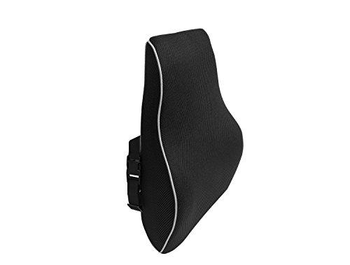 Bonmedico® Orthopädisches Rücken-Kissen, Lordosenstütze für das Auto oder Office, in Schwarz/ Black