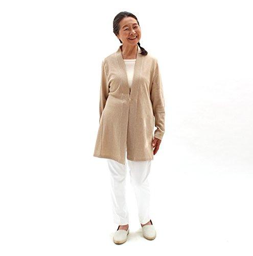 冷房対策 カーディガン レディース 羽織もの(はおりもの)春 夏 シルク 綿 混 日本製