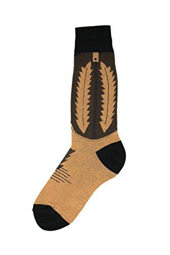 Foot Traffic - Men's Wacky Novelty Socks, Cowboy Boot (Shoe Sizes 7-12) ()