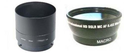 Wide Lens + Tube Adapter bundle for Nikon CoolPix L840 Digital Camera