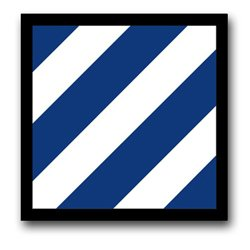 US Army 3rd Infantry Division Patch Decal Sticker 3.8