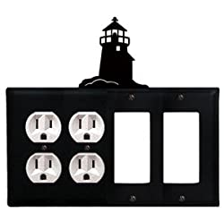 Village Wrought Iron Eoogg-10 Lighthouse Double Outlet Double Gfi Electric Cover