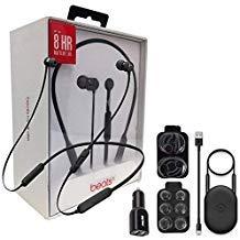 Beats by Dr. BeatsX Wireless in-Ear Headphones - Black - with Dual Car Adapter & Ear Gel,Lighting USB Kit (Renewed)