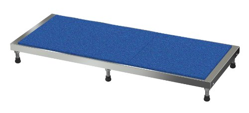Vestil AHT-L-2460-A Aluminum Adjustable Work-Mate Stand with Ergo Matting Deck, 500-lb. Capacity, 60'' Length x 24'' Width Deck, 5-3/4'' - 7-3/4'' Height by Vestil