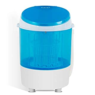 KUPPET 2020 Latest Mini Portable Washing Machine for Compact Laundry, 11lbs Capacity, Small Semi-Automatic Compact Washer with Timer Control Single Translucent Tub