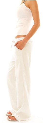 Bestyledberlin - Pantalones de señora, pantalones de lino, pantalones j98a estilo casual femenino Caqui